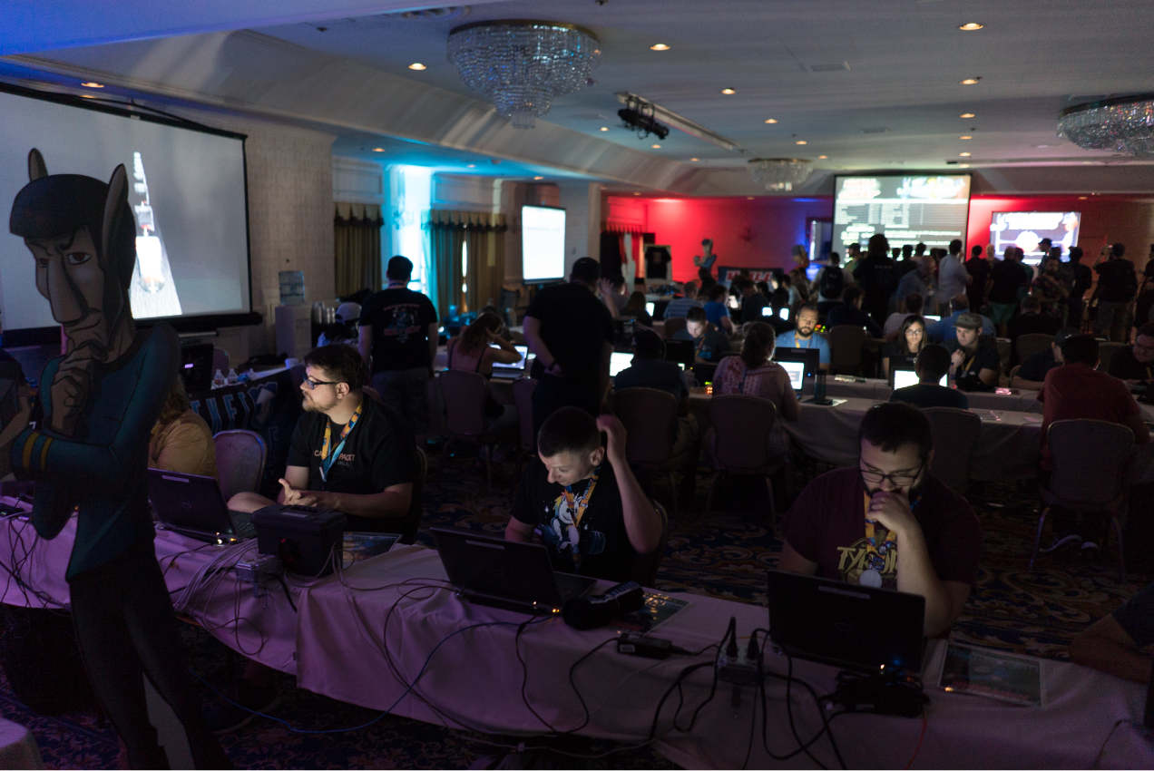 The Packet Hacking Village at DEF CON.